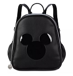 Disney Pin Trading Display Backpack - Mickey Mouse Icon - Black