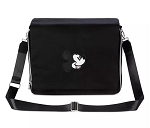 Disney Pin Trading Messenger Bag - Mickey Mouse Icon - Black