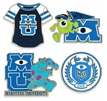 Disney Insignia Pin Set - Monsters University - Set of 4