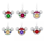 Disney Mickey Ears Ornament Set - Mickey Mouse Icon Indents - Mini