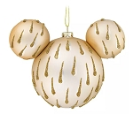 Disney Mickey Ears Icon Ornament - Mickey Mouse Icon - Gold Drops