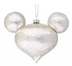 Disney Mickey Ears Icon Ornament - Mickey Mouse Icon - Silver Ice