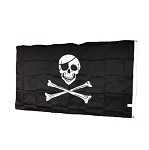 Disney Flag Banner - Pirates of the Caribbean - Skull - 3 x 5ft