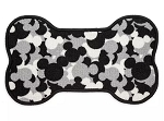 Disney Pet Feeding Mat - Mickey Mouse Icons - Black and White