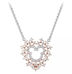 Disney Rebecca Hook Necklace - Mickey Mouse Rose Gold Heart