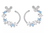 Disney Rebecca Hook Earrings - Mickey Mouse Hoop - Blue & Clear