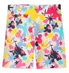 Disney Biker Shorts for Girls - Fantasyland Castle - Mickey and Minnie