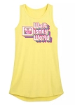 Disney Tank Dress for Girls - Walt Disney World Logo - Neon Yellow
