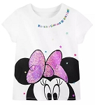 Disney Shirt for Girls - Minnie Sequin Bow - Who Needs a Crown