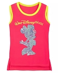 Disney Tank Top for Girls - Minnie Mouse Reversible Sequin - Neon Pink
