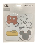 Disney Note Pad Set - Mickey Mouse Body Parts - Self Stick