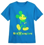 Disney T-Shirt for Kids - Mickey Mouse Classic Neon - Blue