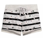 Disney Shorts for Women - Mickey and Minnie Icon Striped