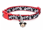 Disney Dog Collar - Mickey Mouse Icons - Red & Black