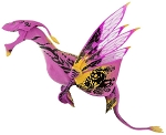 Disney Interactive Banshee Toy - Pandora - Purple Yellow Variant