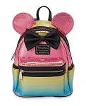 Disney Loungefly Backpack - Minnie Mouse Sequined - Rainbow