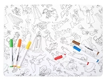 Disney Coloring Placemat with Markers - Ink & Paint - Silicone