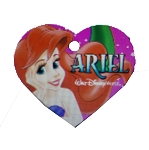 Disney Pet ID Tag - Ariel Heart - Engraved