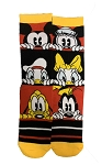 Disney Socks for Adults - Mickey Mouse and Friends - Red Black & Yellow