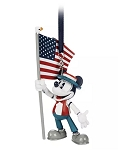 Disney Figural Ornament - Mickey Mouse Americana with Flag