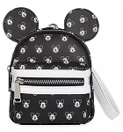Disney Loungefly Backpack Wristlet - Mickey Mouse Faces