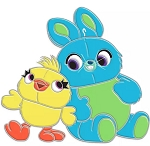 Disney Toy Story Pin - Ducky and Bunny