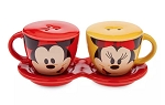 Disney Salt and Pepper Shakers - Mickey and Minnie Coffee Cups
