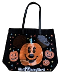 Disney Tote Bag - Halloween Mickey Mouse Pumpkin - Sequin