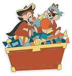 Disney Halloween Pin - 2020 Chip 'n Dale - Pirates
