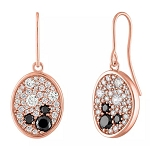 Disney Rebecca Hook Earrings - Mickey Mouse Rose Gold Oval
