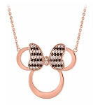 Disney Rebecca Hook Necklace - Minnie Mouse Rose Gold Icon