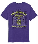 Disney Adult T-Shirt - The Haunted Mansion Text - Purple