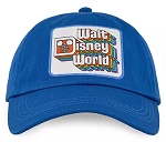 Disney Hat - Baseball Cap - Walt Disney World Logo - Blue