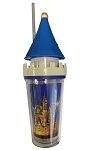 Disney Tumbler with Straw - Sculpted Cinderella Castle - Light Up