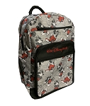 Disney Backpack Bag - Mickey Mouse Sketches - Gray & Black