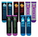 Disney Socks Set for Adults - Disney Villains - 5 Pairs