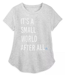 Disney Shirt for Women - It's a Small World After All - Gray