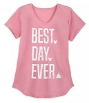 Disney T-Shirt for Women - Best Day Ever - Pink