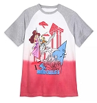 Disney Baseball T-Shirt for Adults - Hercules - Dip Dye