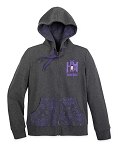 Disney Zip Up Hoodie for Women - The Haunted Mansion - Gray