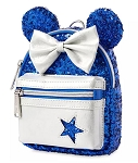Disney Loungefly Backpack Wristlet - Minnie Mouse - Wishes Come True Blue
