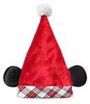 Disney Santa Hat - Mickey Mouse Ears - Plaid