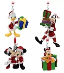 Disney Ornament Set - Santa Mickey Mouse and Friends - Set of 4