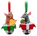 Disney Bell Ornament Set - Remy and Emile - Ratatouille