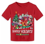 Disney Toddler T- Shirt - Happy Holidays - Mickey & Friends