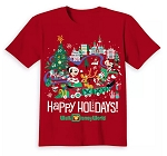 Disney Child T-Shirt - Happy Holidays - Mickey & Friends