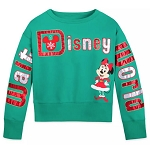 Disney Girl's Pullover Top - Holiday Minnie Mouse -  Walt Disney World - Green