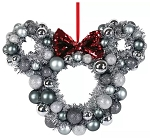 Disney Wreath - Holiday Mickey Mouse Icon - Silver