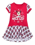 Disney Nightshirt for Girls - Minnie Mouse Holiday - Nice List