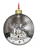 Disney Glass Ball Ornament - Fantasyland Castle Light-Up - Silver & Gold